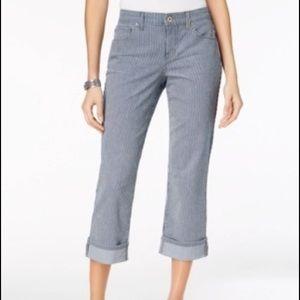 Style & Co Curvy Cuffed Capri Jeans